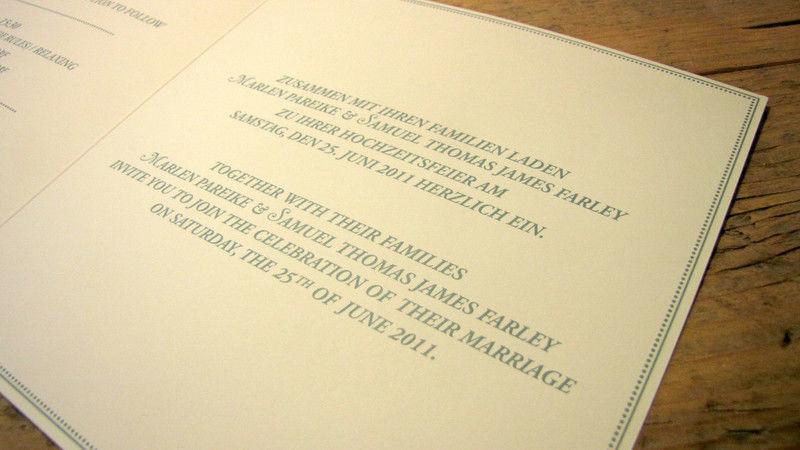 Beispiel: Professioneller Kartendurck, Foto: Die Drucker Hochzeitskarten.