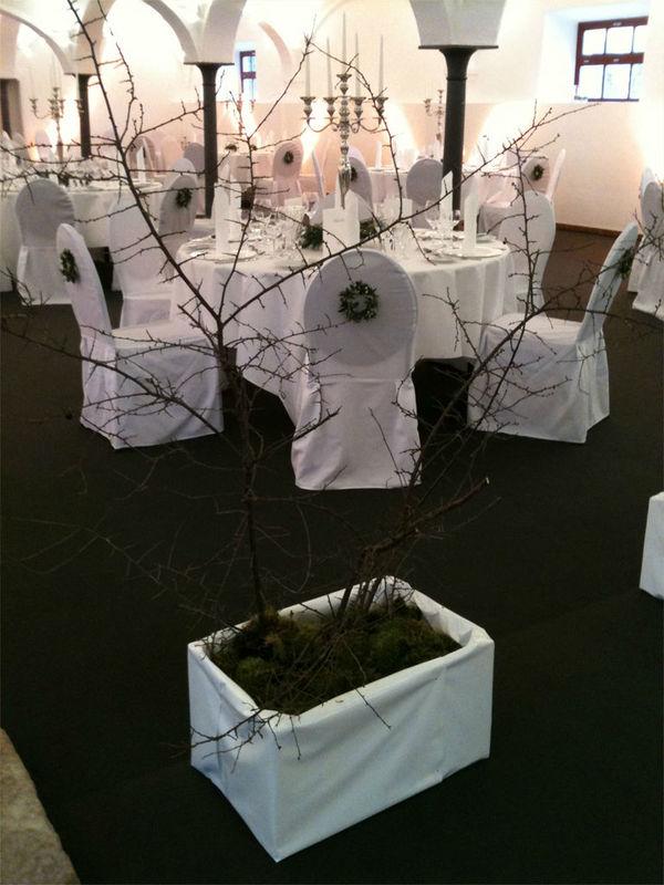 Beispiel: Florale Raumgestaltung, Foto: Blumenkunst im Prinz-Karl Palais.