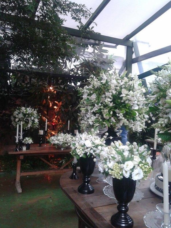Jardim de festas - preparativos
