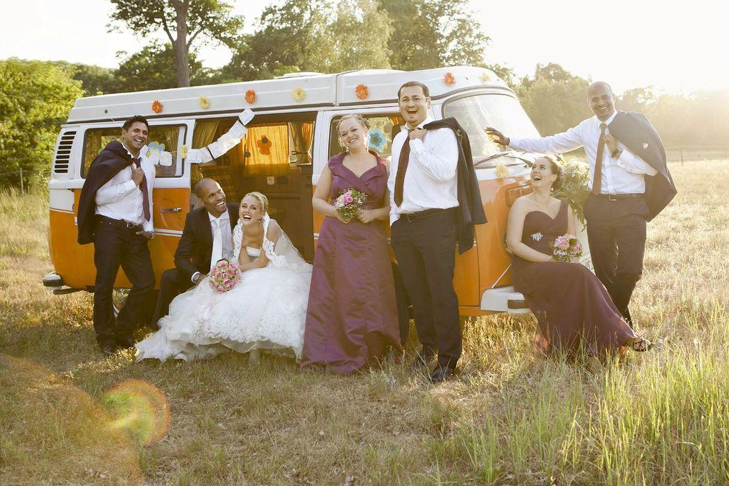 Gruppenfoto von Hochzeit