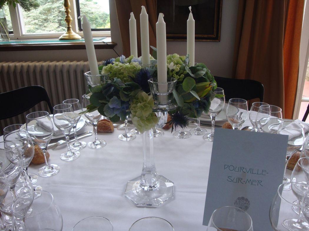 couronne sur chandelier cristal pour centre de table