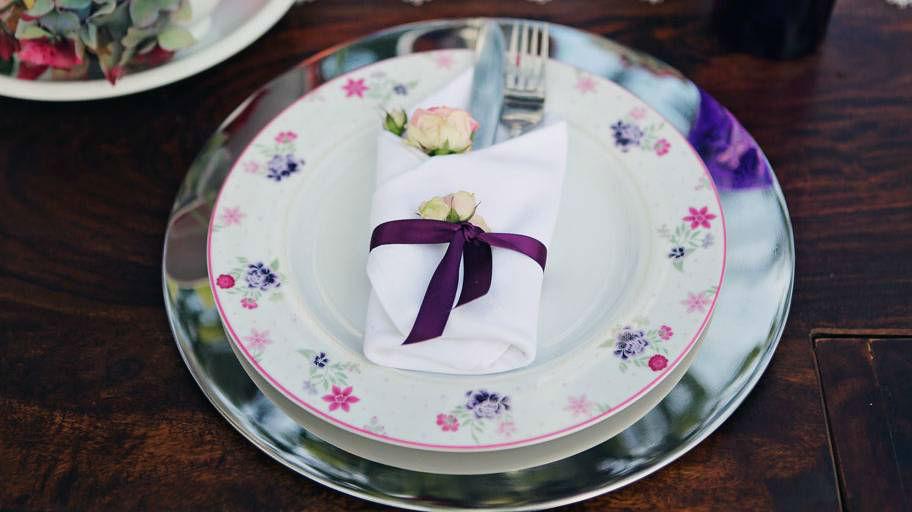 Beispiel: Blumen-Dekoration für das Bankett, Foto: Blumen Isabella.