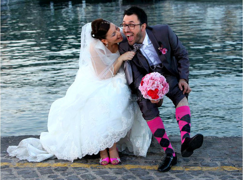 Bouquet sposa in perfetto fil rouge con i nostri sposini