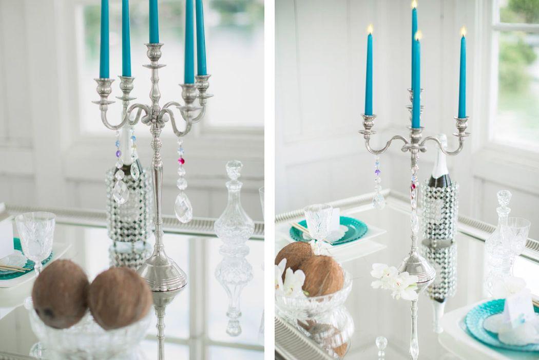 Beispiel: Tischdekoration edel. Foto: wedding AGENCY