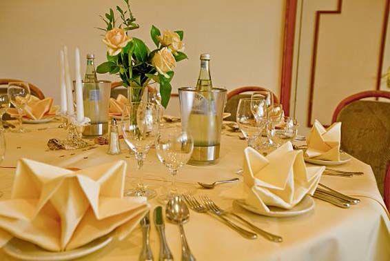 Beispiel: Hochzeitsgedeck, Foto: Parkhotel am Heger Holz.