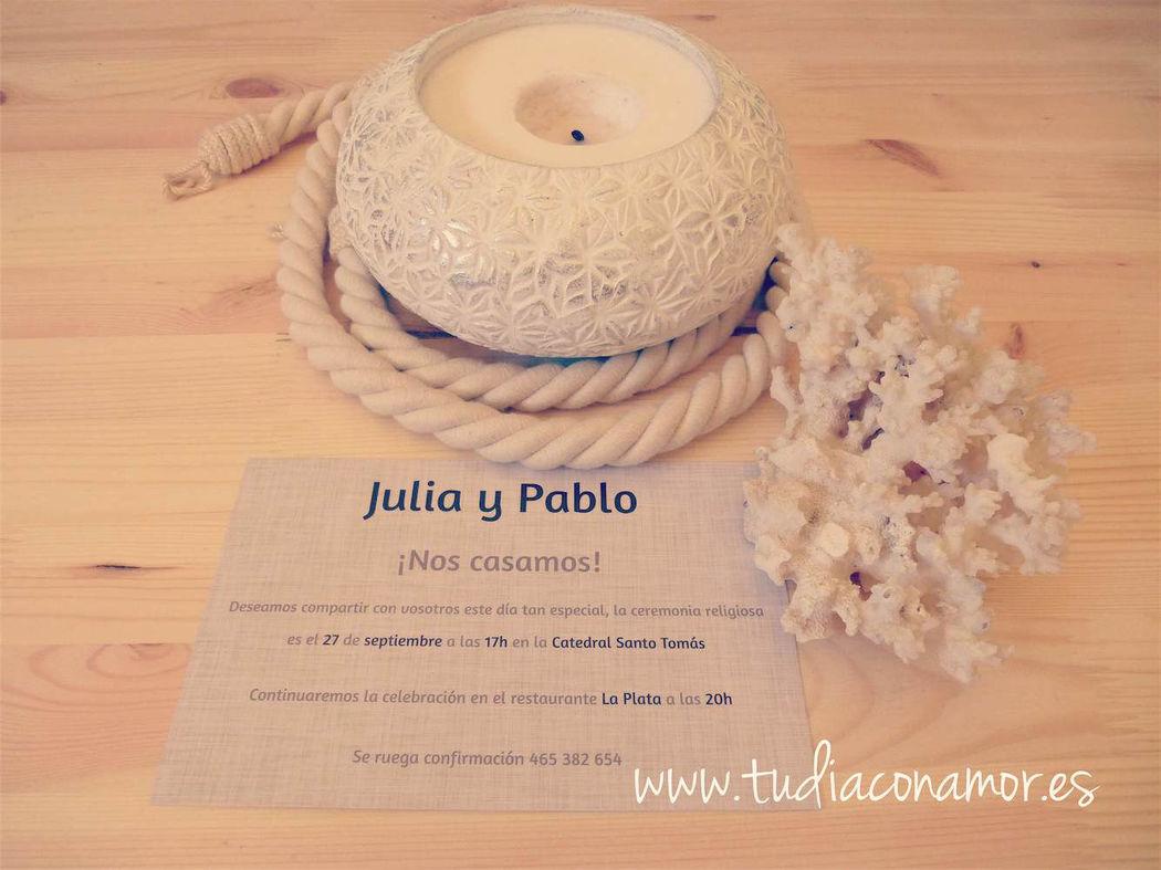Invitaciones de boda lino