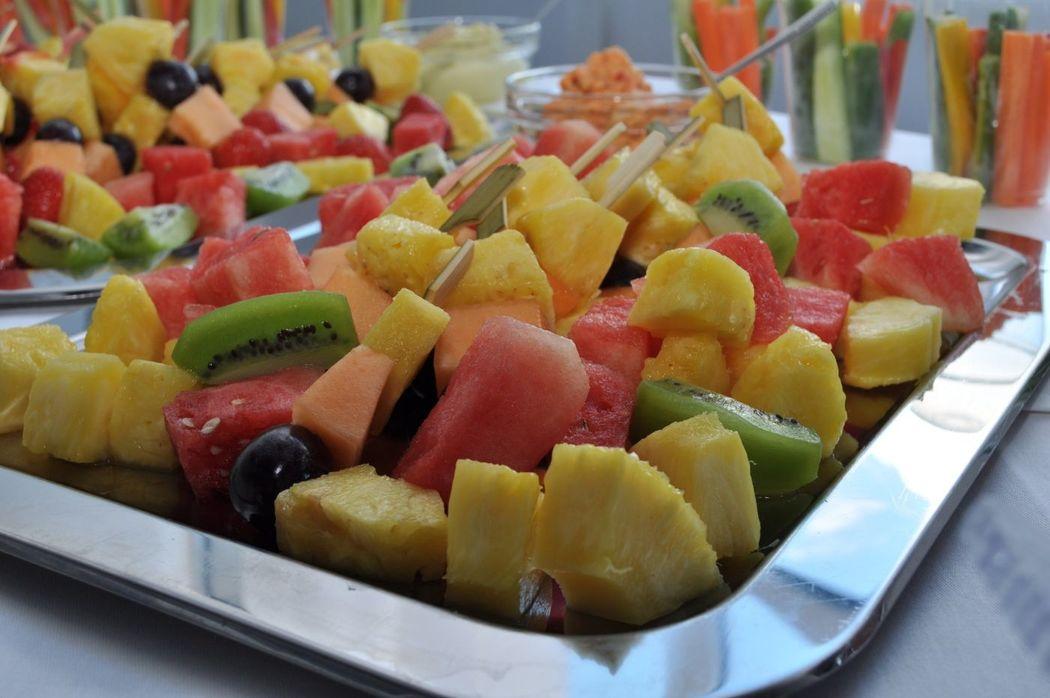 Beispiel: Fruchtspiesse, Foto: Das Häppchen schmeckt...