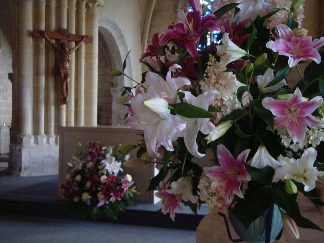 décoration florale église de Varengeville sur Mer