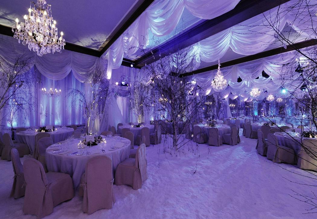 Beispiel: Räumlichkeiten für Ihre Hochzeitsfeier, Foto: Badrutt's Palace Hotel.
