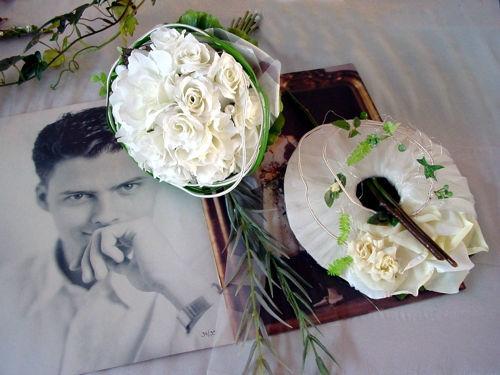 Beispiel: Brautstrauß, Foto: Artischoke Kunstblumen.