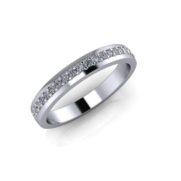 Lanfossi Gioielli - Fede Eternel in oro bianco 18 k e Diamanti
