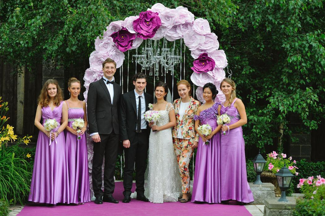 Свадьба в Немчиновка-парк отеле. С молодожёнами, подружками невесты и свадебным организатором Екатериной Акимовой (