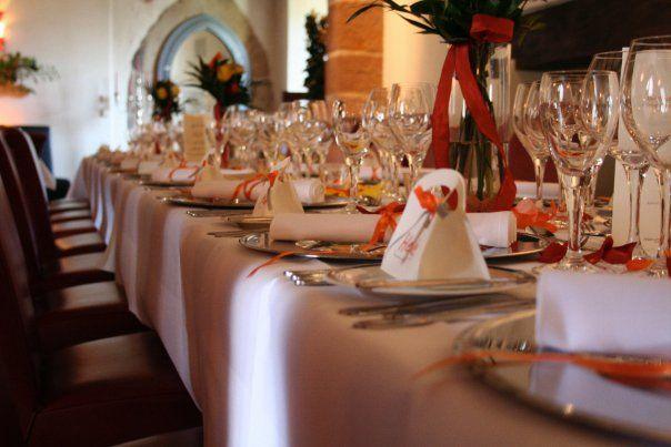 Beispiel: Hochzeitstafel, Foto: Schloss Romrod.