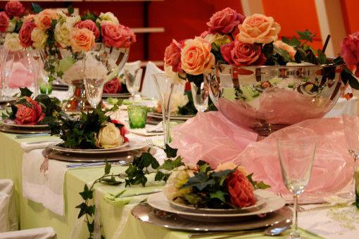 Beispiel: Hochzeitstafel, Foto: AKZENT Aggertalhotel Zur alten Linde.