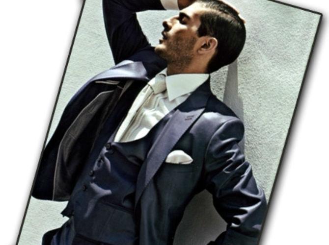 Beispiel: Anzüge für den Bräutigam von heute, Foto: Modehaus Zins.