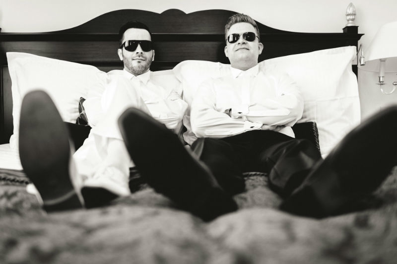 Beispiel: Hochzeitsfotos in Schwarz-Weiß, Foto: Patrick Ludolph.
