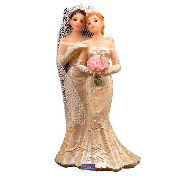 Beispiel: Tortenfiguren - lesbisches Brautpaar, Foto: Feiermeier Nürnberg.