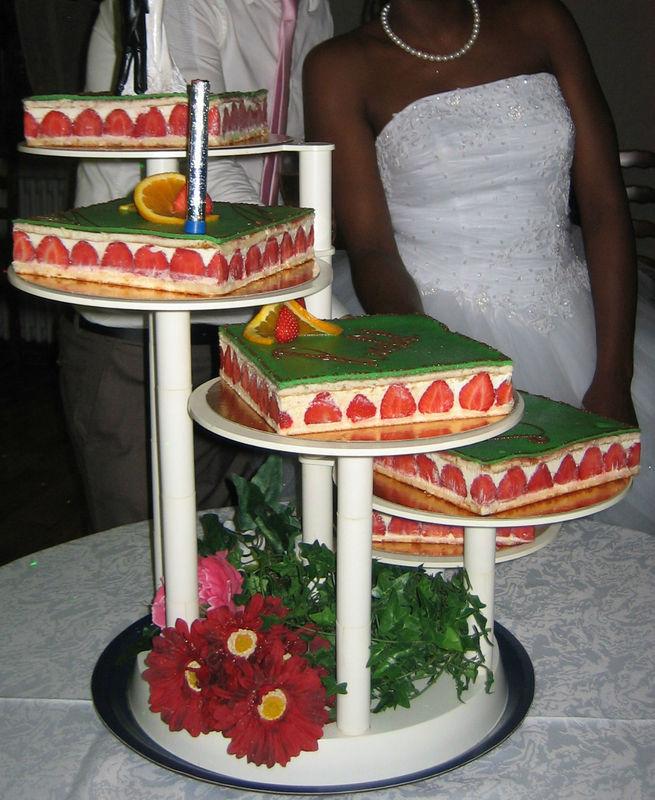 fraisiers sur socle