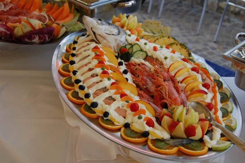 Salmone fresco in bellavista
