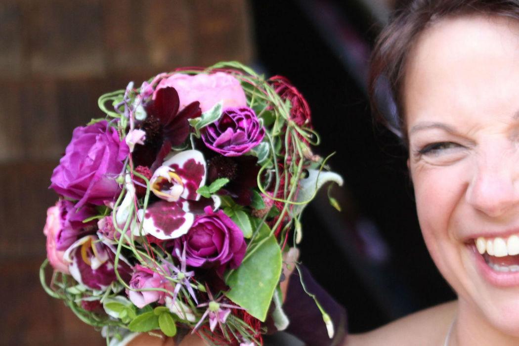 Beispiel: Brautstrauß, Foto: Gnädinger Floristik.