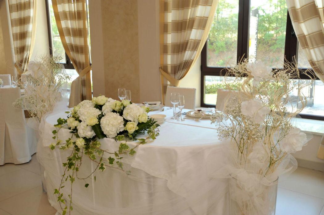 tavolo sposi ristorante Bigarò