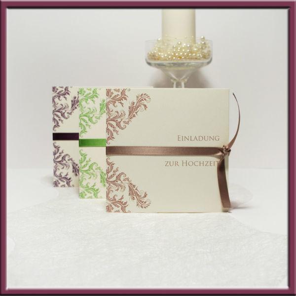 Beispiel: elegante Hochzeitskarten, Foto: Adam & Eva Hochzeitskarten.