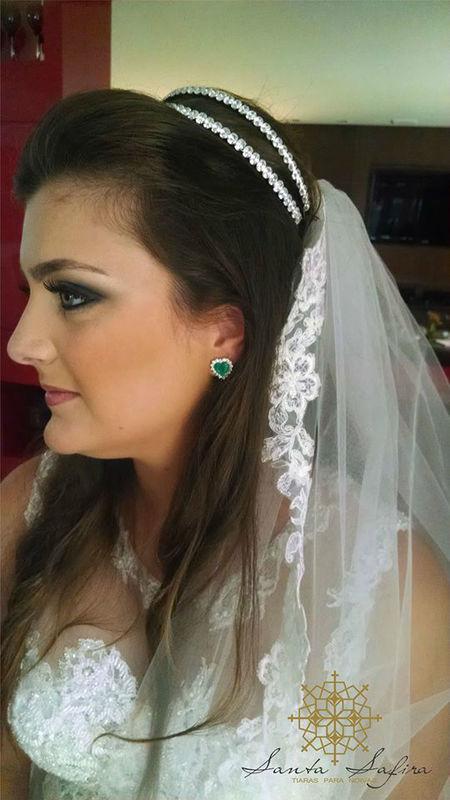 Santa Safira Tiaras Para Noivas