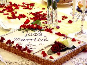 Beispiel: Hochzeitstorte, Foto: Gasthof Linde.