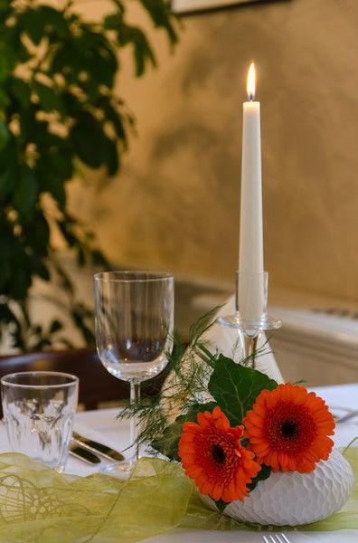 Beispiel: Tischdekoration, Foto: Kromer´s Restaurant & Gewölbekeller.