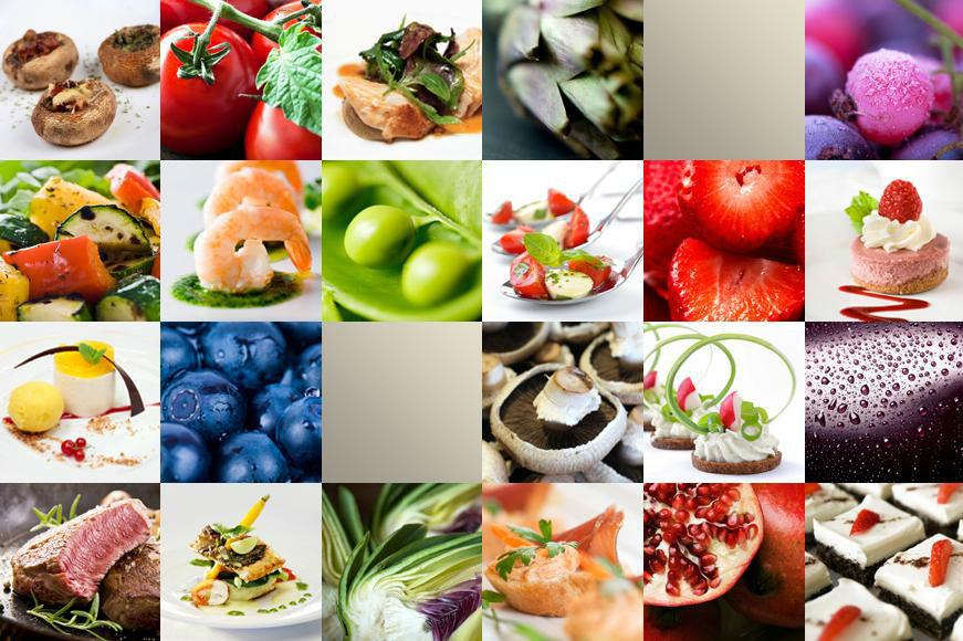 Beispiel: Fotocollage mit verschiedenen Gerichten, Foto: MS-Catering.