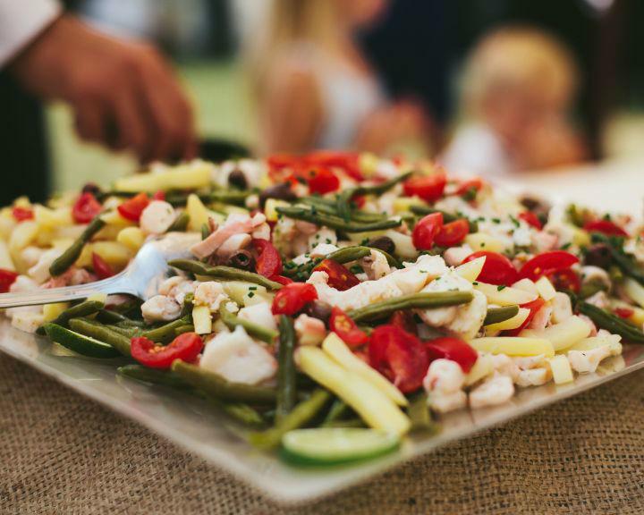 Insalata di polpo con patate allo zafferano, fagiolini, olive Taggiasche e capperi di Pantelleria