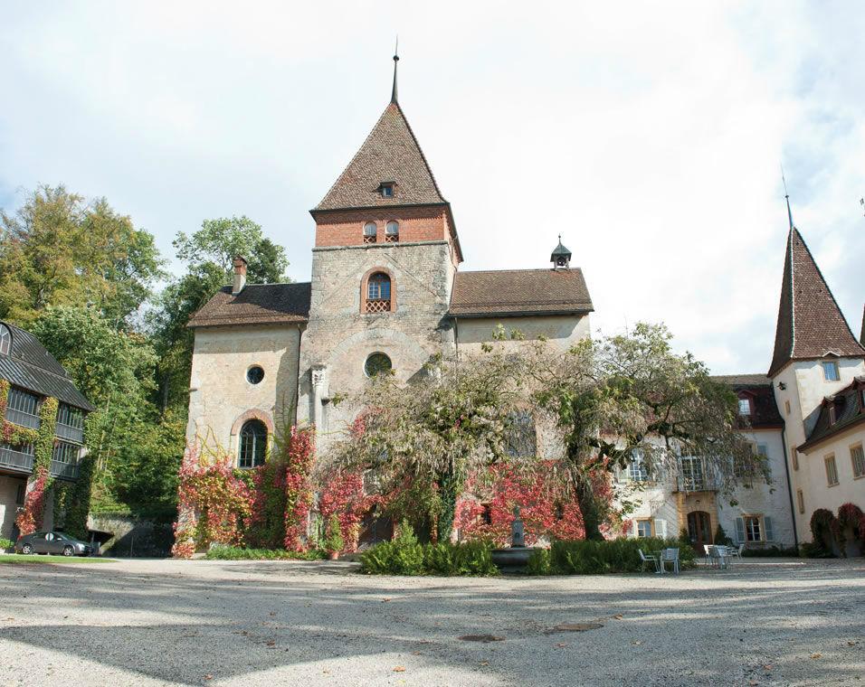 Beispiel: Innenhof des Schlosses, Foto: Schloss Münchenwiler.