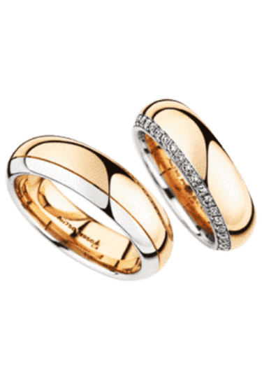 Beispiel: Suchen Sie sich Ihre passenden Ringe, Foto: Juwelier Schneider.