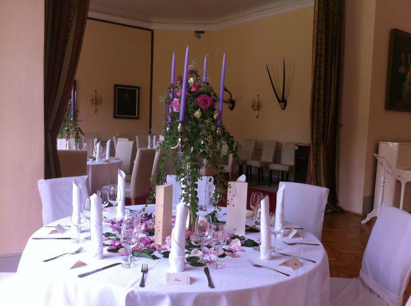Tischdekoration, Foto: Schloss Reichstädt