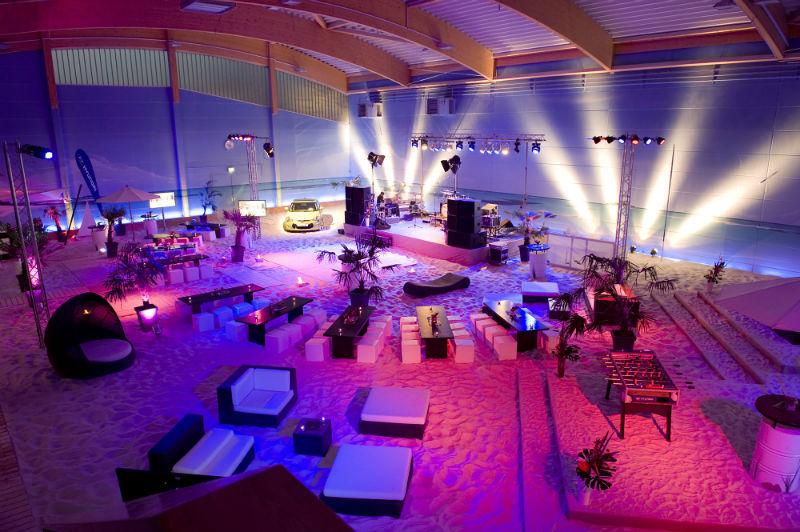 Beispiel: Nutzung der Hallen mit Strandsand, Foto: BeachCenter Hamburg.