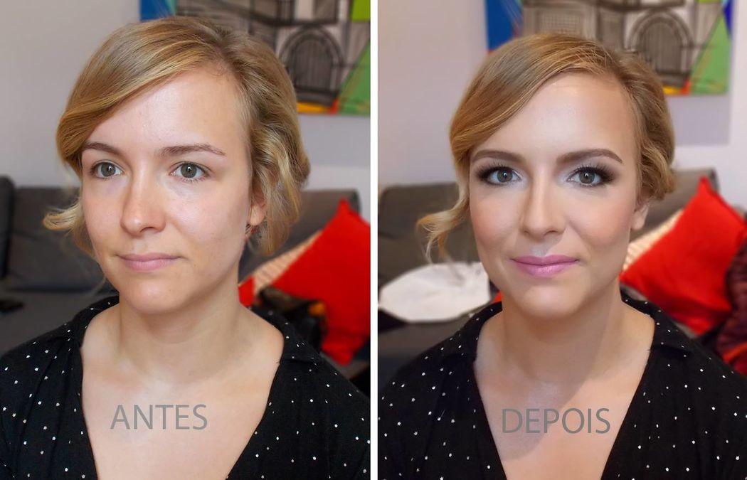 Antes e Depois Makeup Noiva 2016