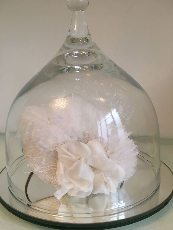 Bibi plumes de coq et fleurs de soie