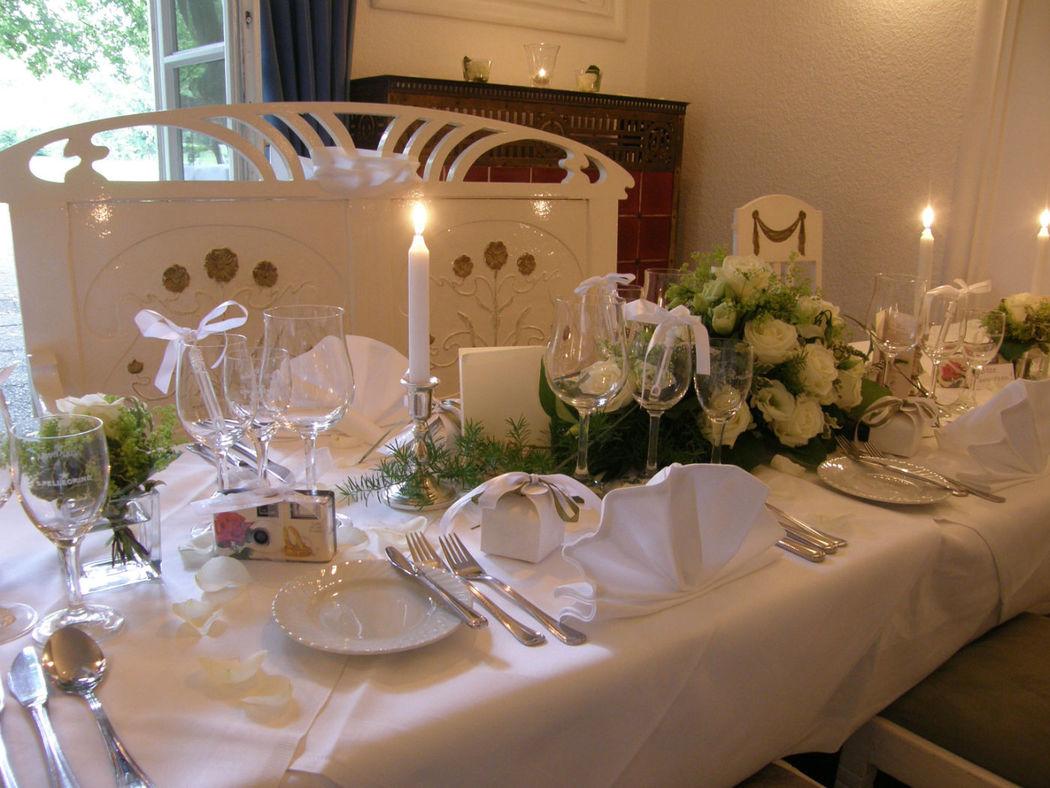Beispiel: Tischdekoration, Foto: Witthüs.