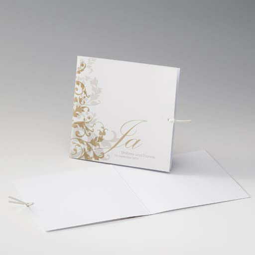 Beispiel: Hochzeitseinladung mit Aufdruck