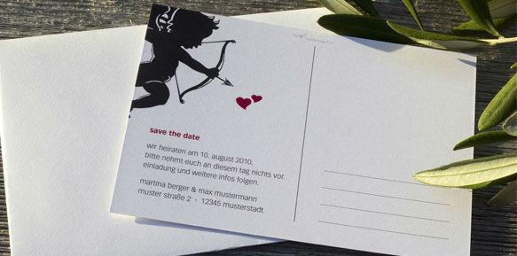 Beispiel: Save the date, Foto: