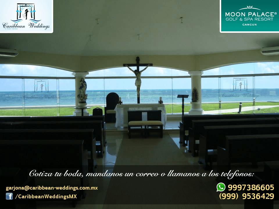 Uno de los mejores resorts de la Riviera Maya con capilla certificada para EL MEJOR DÍA DE TU VIDA !!  Más información: Tel +52 999 953 64 29 Cel +52 999 738 66 05 (Whatsapp) Mail: garjona@caribbean-weddings.com.mx