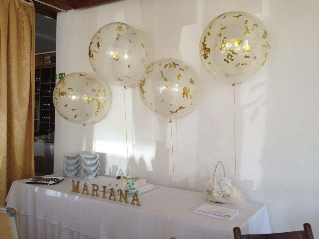 Decoração espaço com balões