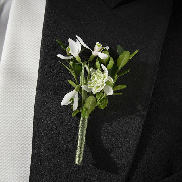 Beispiel: Anstecker für den Bräutigam, Foto: Green Creation StyleStore.