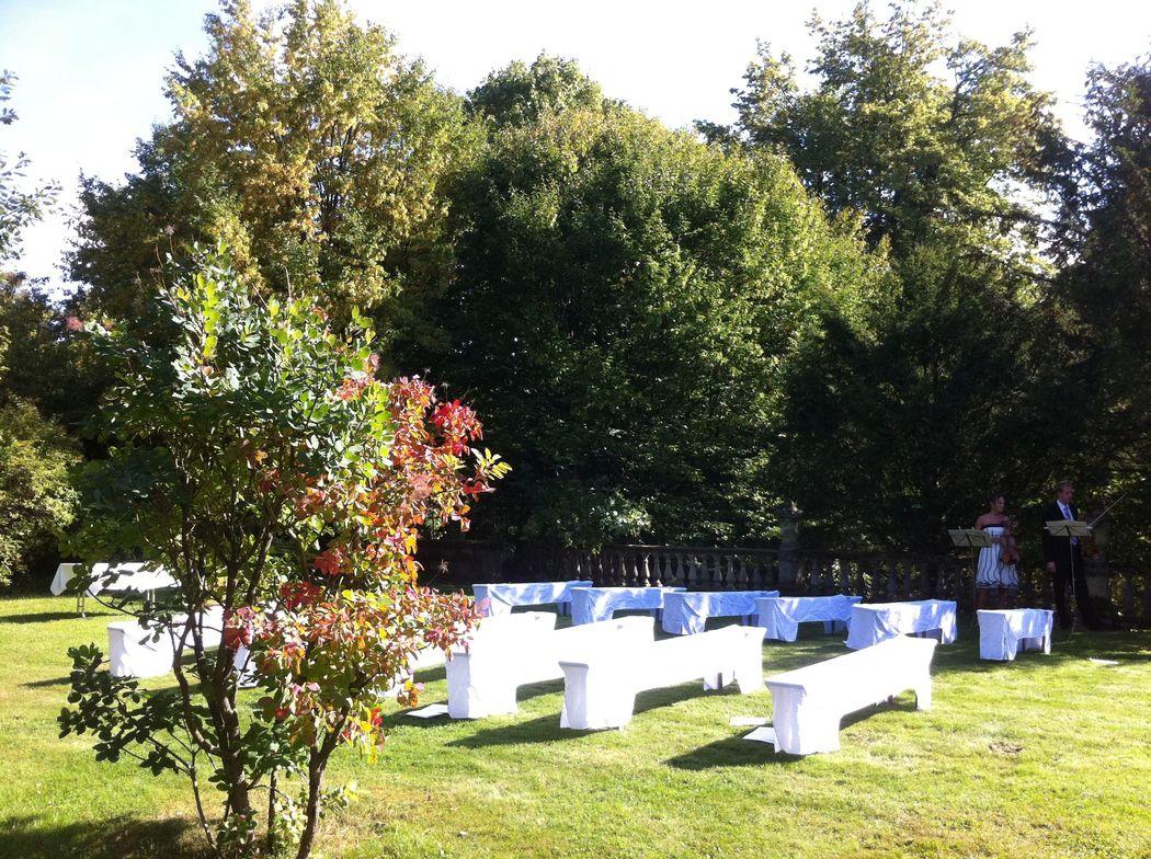 Trauung im Park - Schlosshotel Hohenstein