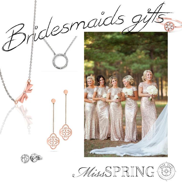 Ook de bruidsmeisjes mogen niet vergeten worden, Spring en Dji Dji fine jewelry hebben schitterende sieraden in zilver en goud.