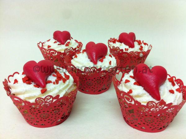 Beispiel: CupCakes für Verliebte, Foto: Motivtorten.