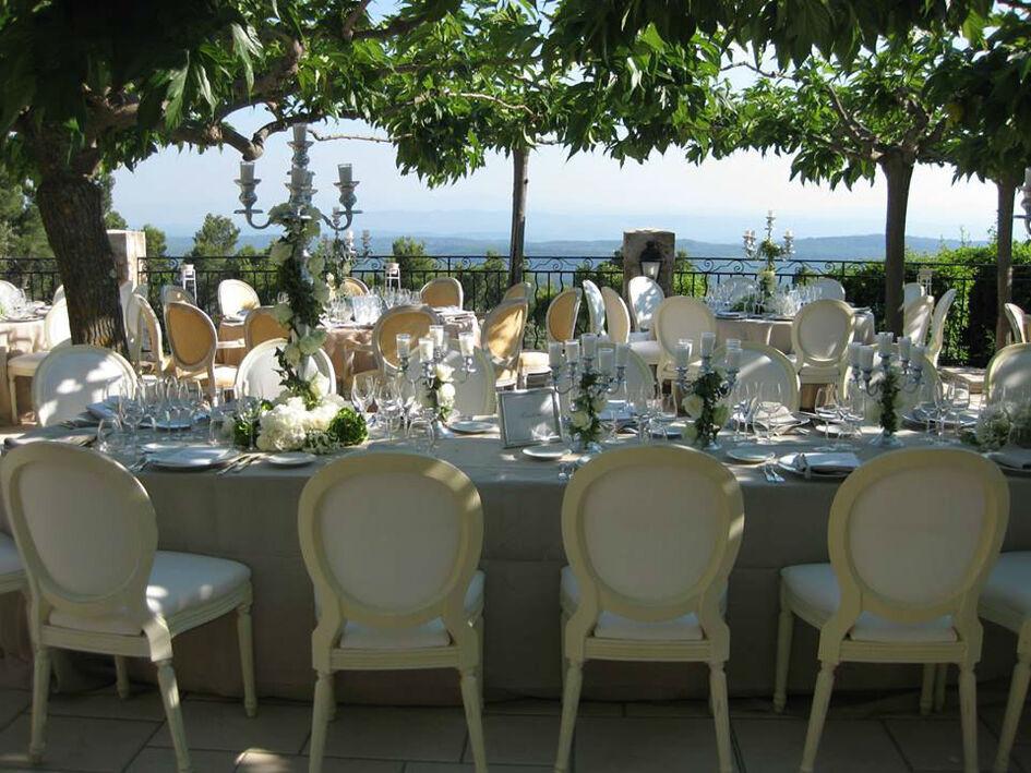 MISE EN PLACE MARIAGE La Bastide De Tourtour