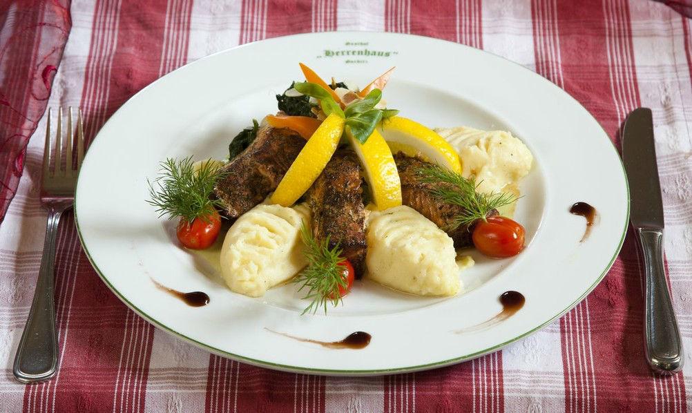 Beispiel: Serviervorschlag, Foto: Gasthof Herrenhaus Gorbitz.