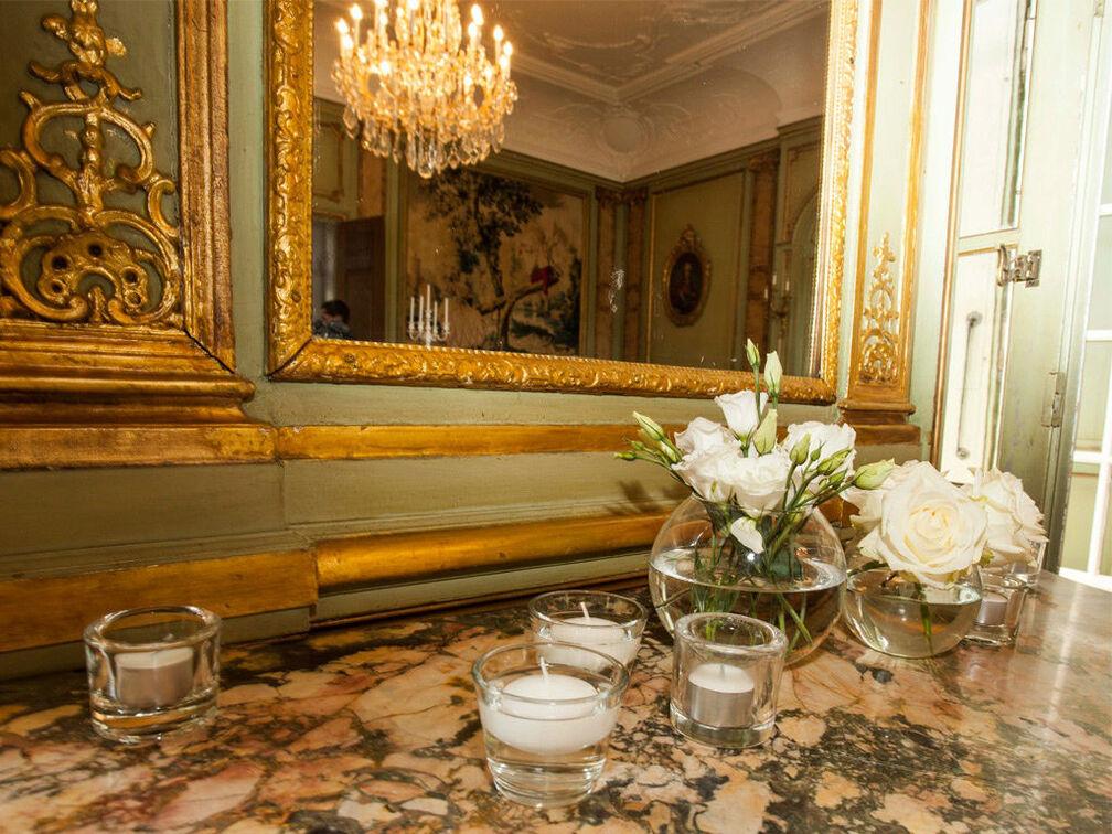 Beispiel: Dekoration Ihrer Hochzeit, Foto: Gammacatering.