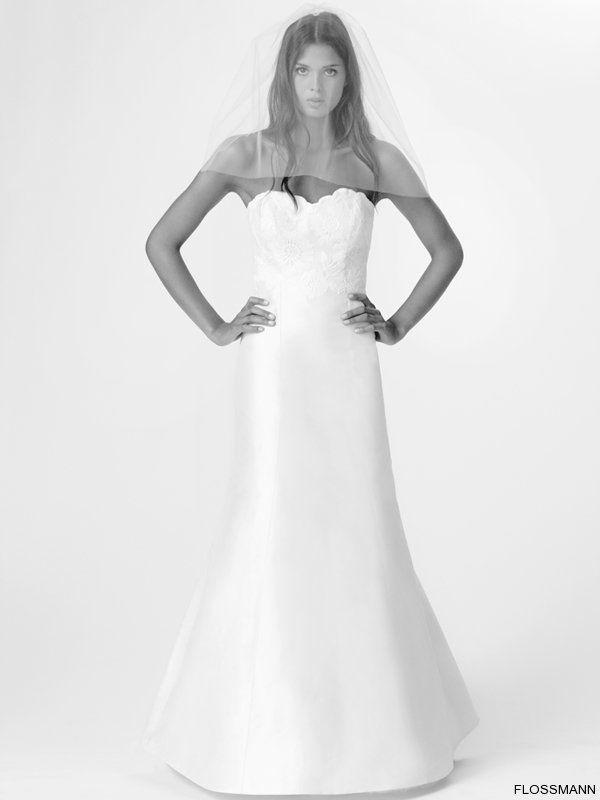 Beispiel: Einzigartige Brautkleider, Foto: Brautsalon Flossmann.